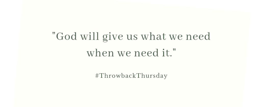 Throwback Thursday – August 18, 2019
