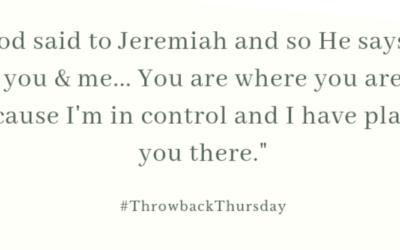 Throwback Thursday – September 22, 2019