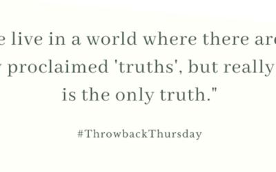 Throwback Thursday – October 20, 2019