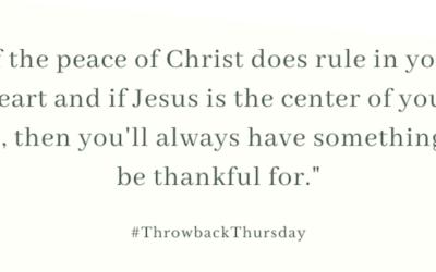 Throwback Thursday – November 3, 2019