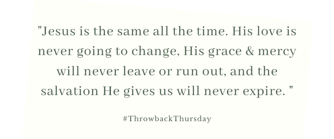 Throwback Thursday – November 24, 2019