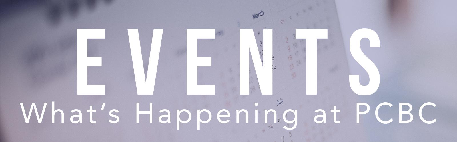 PCBC Events
