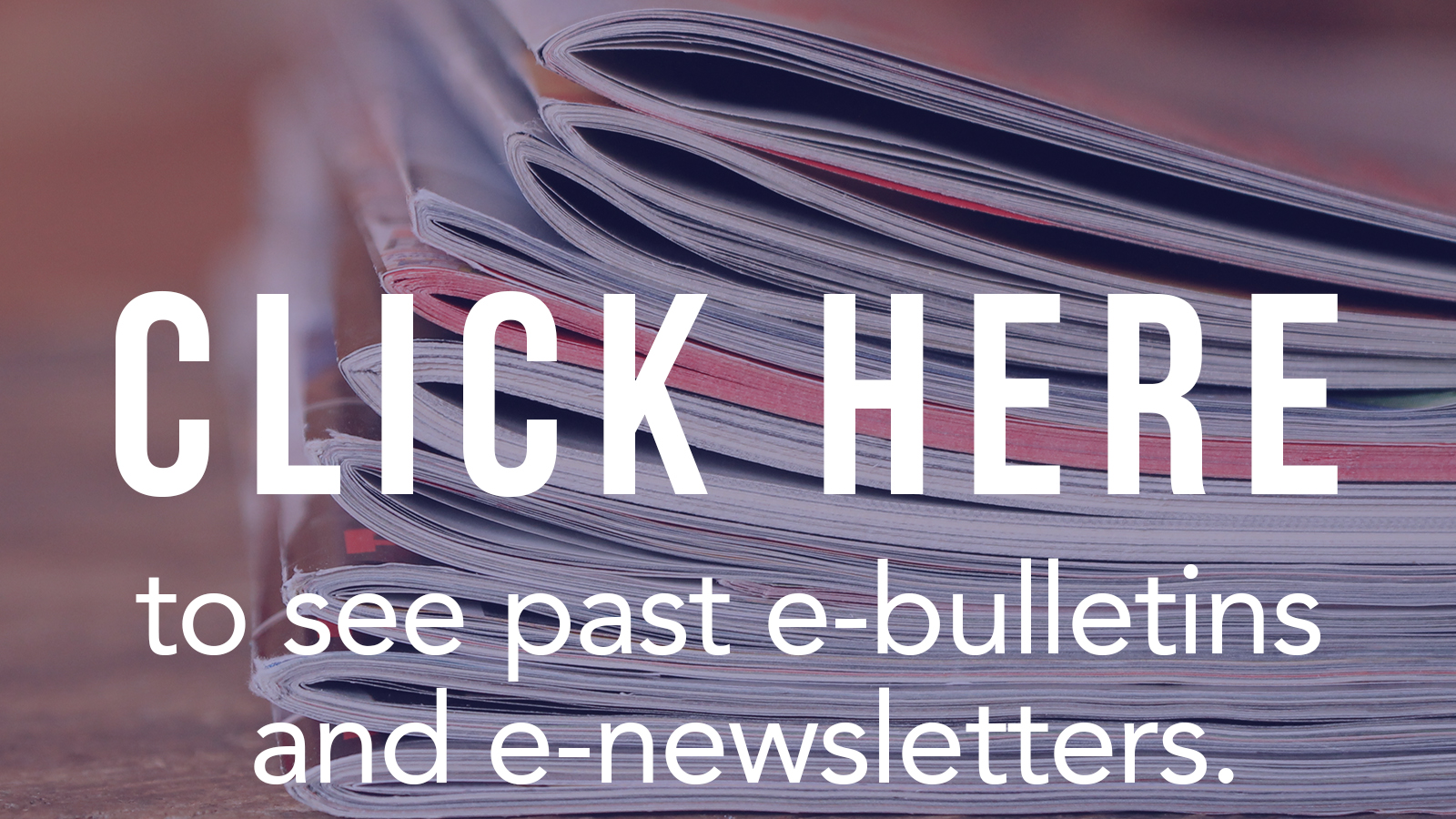 Click Here to View Past E-Bulletins and Newsletters